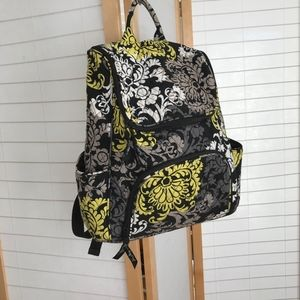 Vera Bradley large backpack front pocket Baroque
